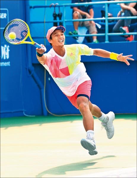 盧彥勳首戰驚險開胡,生涯5度挺進奧克蘭男網賽單打16強。 (資料照)