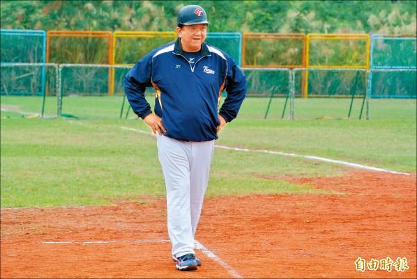 桃園市總教練李政達將目標放在3連霸。(記者倪婉君攝)