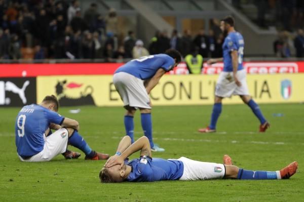 义大利主场遭到瑞典逼和,拥有4届世足金杯的蓝衫军,自1958年以来首度无缘世足会内赛。