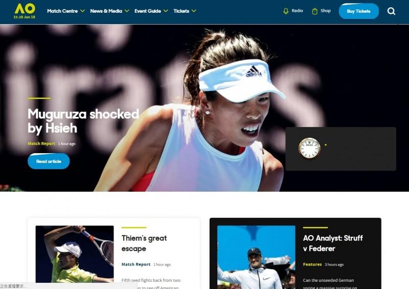 《澳網》謝淑薇重挫世界第3穆古魯莎