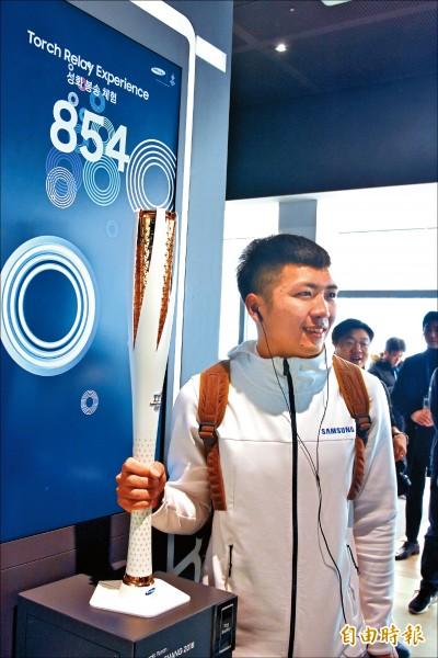 江俊弘以前是田徑短跑選手,轉成冬季項目選手後,目標是挑戰五環殿堂。(特派記者卓佳萍攝)