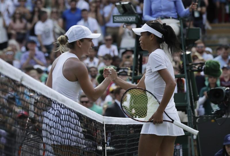 謝淑薇擊敗世界球后 溫網首度挺進16強