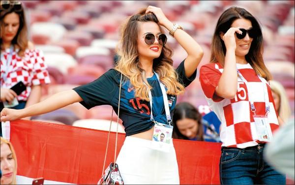與過去的世界盃相較,今年女球迷上鏡頭次數已明顯減少。 (取自克羅埃西亞國家隊官方推特)