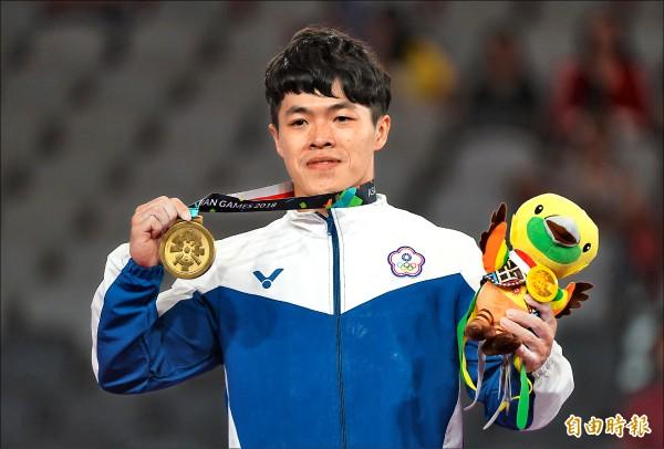 陳智郁在雅加達贏得亞運吊環銅牌。 (資料照,記者林正堃攝)