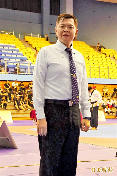 城市盃裁判總督導李清德。(記者廖聿偉攝)
