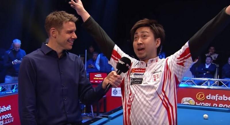 撞球》贏台灣好手 日本選手嗨唱洗腦神曲PPAP