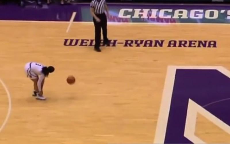 籃球》運球到一半綁鞋帶 這位女籃球員被罵翻(影音)