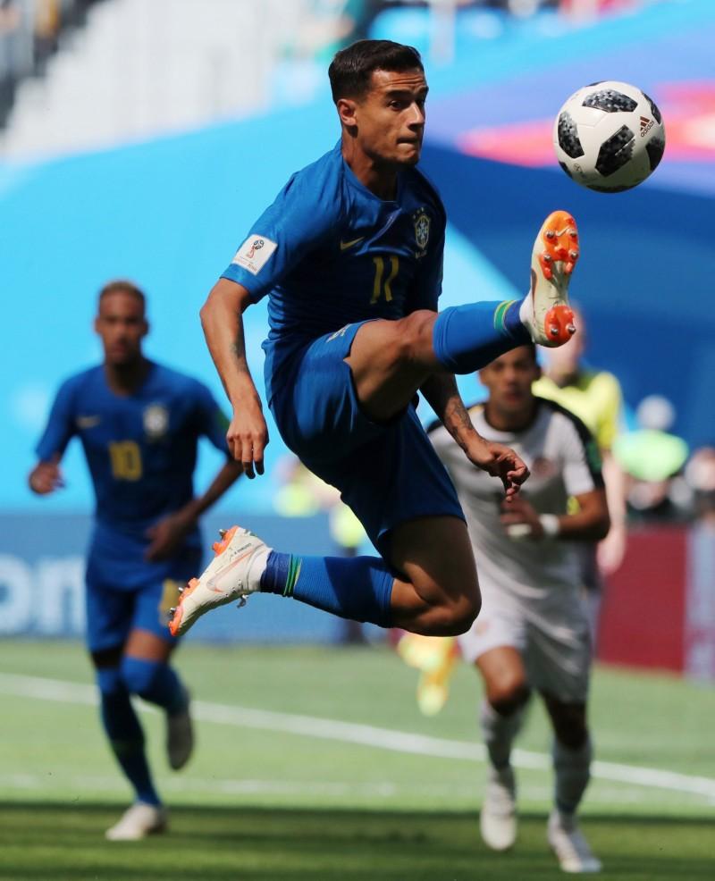 世足賽》表現不輸內馬爾 中場庫提尼歐成為巴西新寵兒