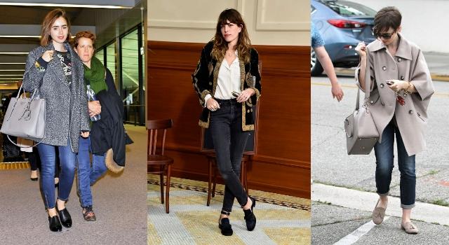 秋冬樂福鞋怎麼穿?從女星私服穿搭找靈感