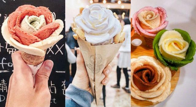 吃冰也能耍浪漫?「玫瑰花霜淇淋」簡直最強約會美食