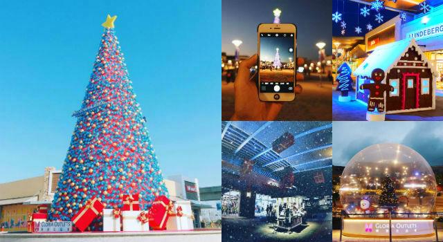 桃園竟有「飄雪聖誕村」?美式Outlet華泰名品城不只折扣好買到爆連街景也美翻了!