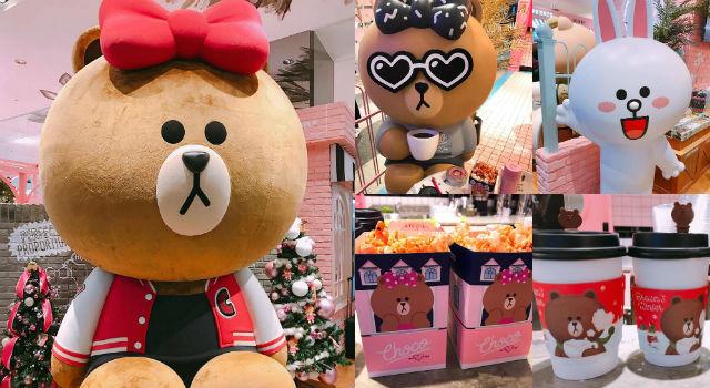 不花錢也能拍過癮!台灣第一間粉嫩到炸的「熊大妹」Line Cafe開張啦!