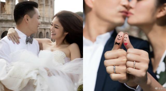 安以軒婚紗照美翻天!羅馬街頭甜曬恩愛、香吻秀戒實在太閃啦!