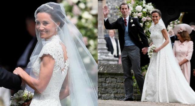 凱特王妃妹妹絕美出嫁!夢幻白紗、迷人曲線宛如女神降臨