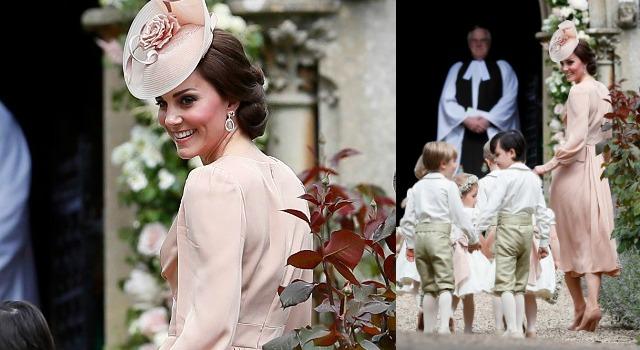 凱特王妃「蜜桃粉」洋裝太顯嫩!婚禮穿搭簡約大方惹人愛