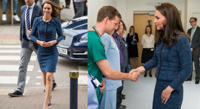 人美心也美!凱特王妃穿5年舊衣優雅現身醫院融化人心