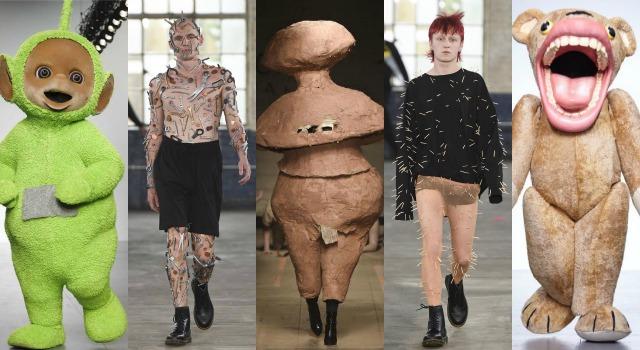史上最有梗!天線寶寶、工具人接力「靈芝草人」走上時裝週伸展台
