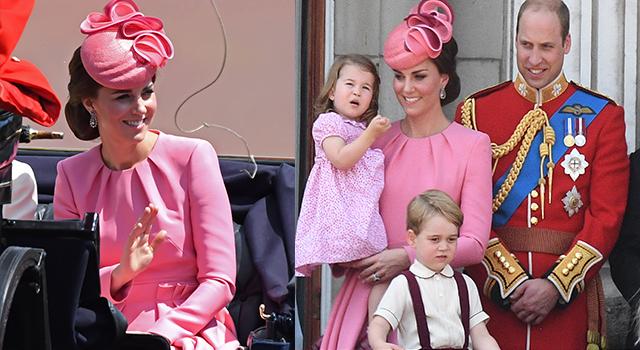 世上最萌母女裝!凱特王妃、夏綠蒂公主粉嫩現身女王生日慶典成全場焦點!