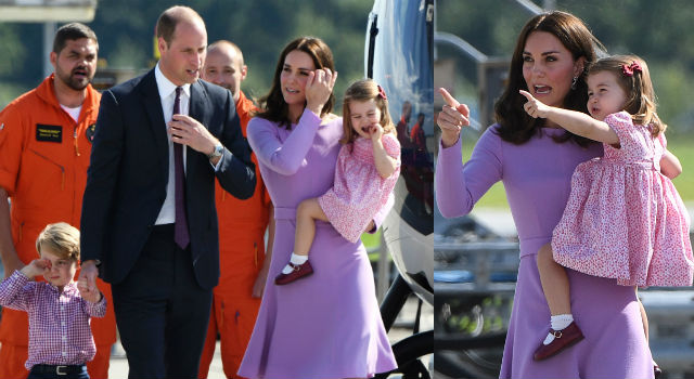 夏綠蒂摔跤大哭、喬治捧臉微笑兩樣情!凱特王妃輕聲哄兒畫面超溫馨!