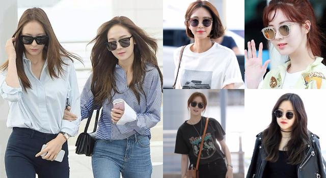 韓星全都移情別戀了!女星機場穿搭最愛墨鏡悄悄玩起「時尚大風吹」