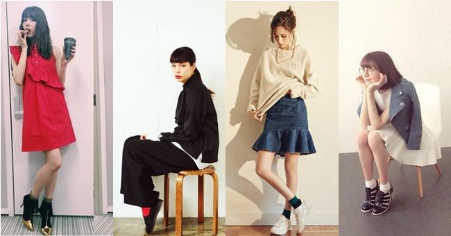 入秋「小短襪」裝可愛!跟著日系4大混血名模這樣穿一秒變少女!