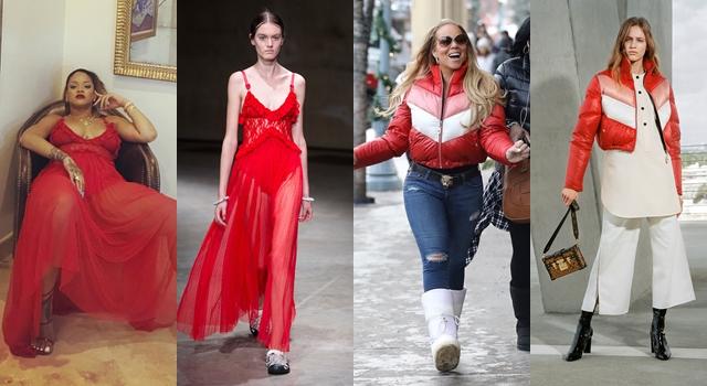 【時尚前後台Top 5】跨年紅色夯!Angelababy衣Q勝歌藝,蕾哈娜「擺態」秀時尚!