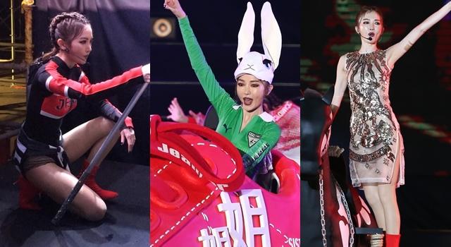 謝金燕升級「時尚姐姐」首次唱跨年!透視高衩露長腿一樣辣翻天!