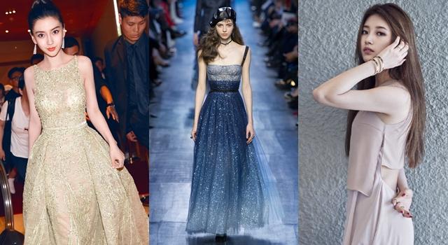 Angelababy、秀智撞衫!因為一件「星空禮服」竟造成中韓時尚之爭?
