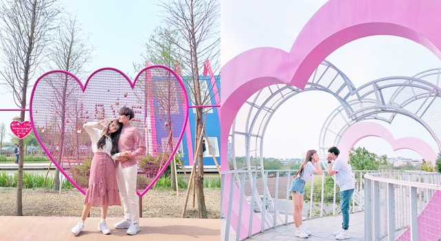 清明連假快衝!不用去韓國,中南部就有「必打卡粉紅愛心景點」!