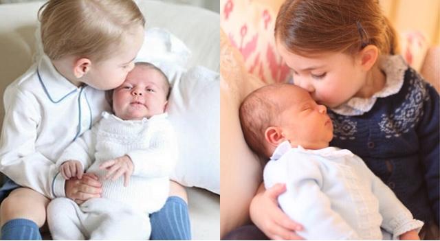 路易小王子的首張官方照曝光了!被姊姊夏綠蒂抱著真的萌翻了!
