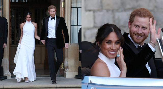 梅根第二套禮服造型曝光!已故黛安娜王妃海藍寶戒指成亮點