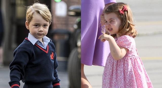 喬治小王子、夏綠蒂小公主「命定色書包」曝光!刻著名字超可愛!