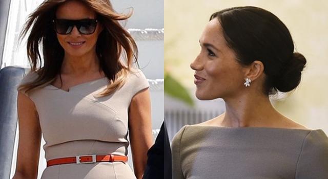 穿「他」設計的洋裝狀況百出?美第一夫人小腹微凸、新王妃梅根Bra現形
