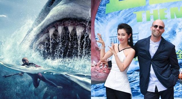 超大膽!傑森史塔森、李冰冰「合照」巨齒鯊竟這麼有時尚感!