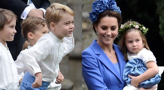 凱特王妃「有禮貌舊衣」出席婚宴獲好評!與喬治、夏綠蒂都穿皇室藍!