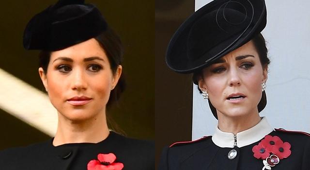凱特王妃、梅根「黑色時尚」比美!頭髮亂翹形象扣分的是她...
