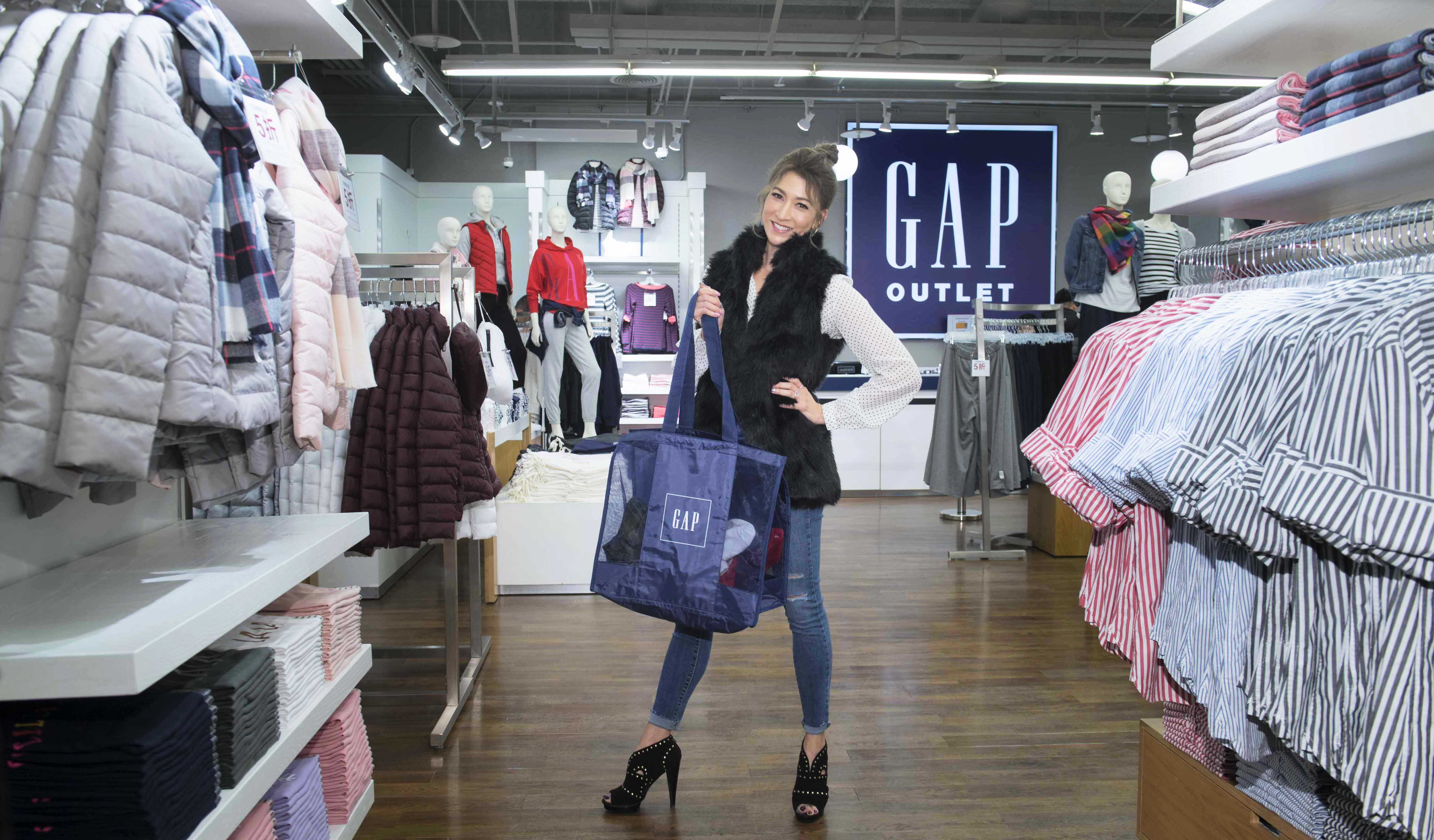 Gap Outlet正式登台!辣妈李咏娴公开冬季购物省钱妙招!