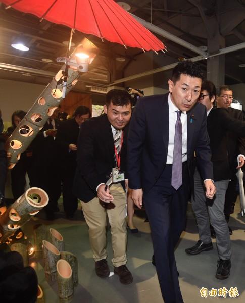 現任總務副大臣赤間二郎來台訪問,在在顯示安倍的戰略佈局化被動為主動。(資料照)