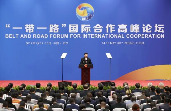 中國最近剛結束為期兩天的「一帶一路」論壇峰會,在其以國家之力,高調對外宣傳造勢下,國際間出現了截然不同的反應。(法新社)