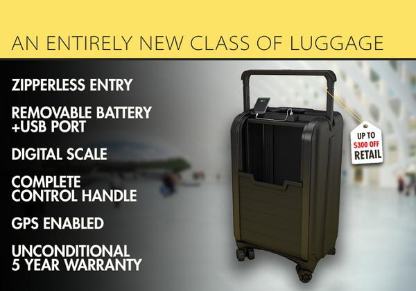 年假旅遊必備幫手!智慧型旅行箱可計重又可充電