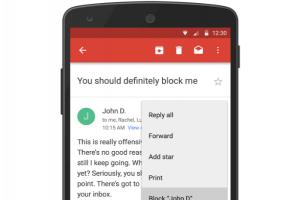 騷擾信掰掰! Gmail 推出「封鎖寄件人」功能