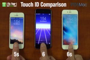 指紋辨識有感升級? 快看 iPhone 6s、6、5s 三機對決!