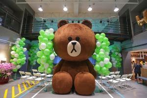 全球最大款「熊大」就在台北!LINE 成立台灣新辦公室