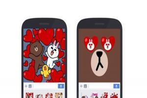 整個手機都被熊大霸占啦!LINE「全螢幕貼圖」在台上線!
