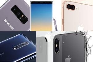 旗艦機雙鏡頭誰最強?iPhone X、i8 Plus、Note 8、Nokia 8 規格比一比!