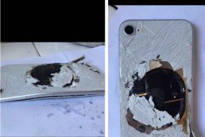 全球第十例!傳中國 iPhone 8 電池冒煙後燒穿手機