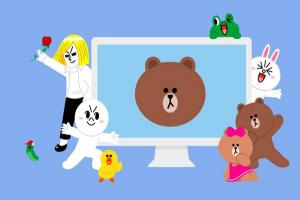 熊大兔兔登上電腦掀「趴地照」風潮!LINE 推螢幕保護程式免費下載