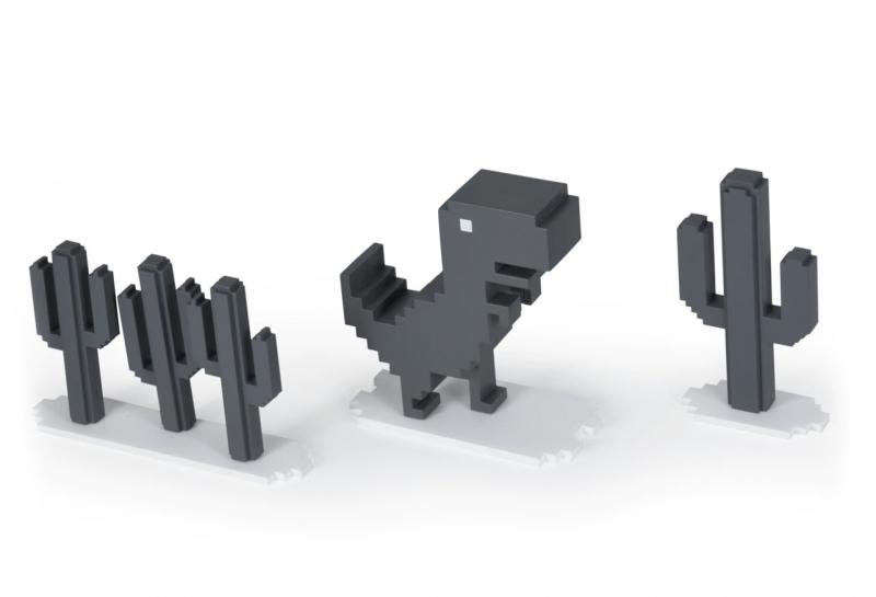 真正的「離線」遊戲來了!Google 最紅的「斷網小恐龍」實體商品登場