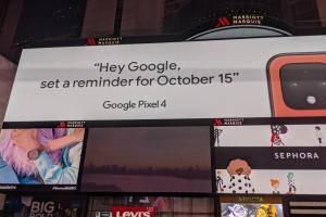 時代廣場廣告自爆雷!Google Pixel 4 將推新色和iPhone 爭豔