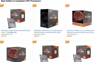 AMD 強勢力壓 Intel!霸榜亞馬遜 CPU 銷售前十名